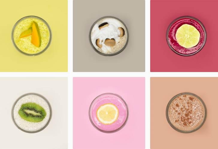 Pantone Smoothies: Recreando los colores con mezclas de fruta