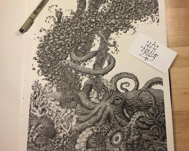 Miles y miles de puntos crean estos fantásticos dibujos