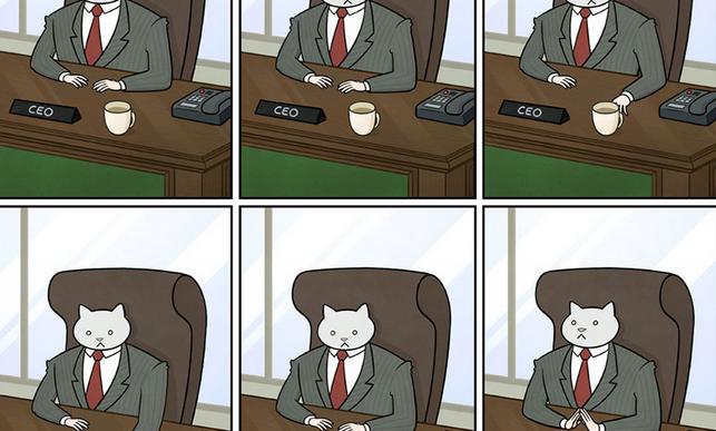 Así sería tu oficina si el jefe fuera un gato