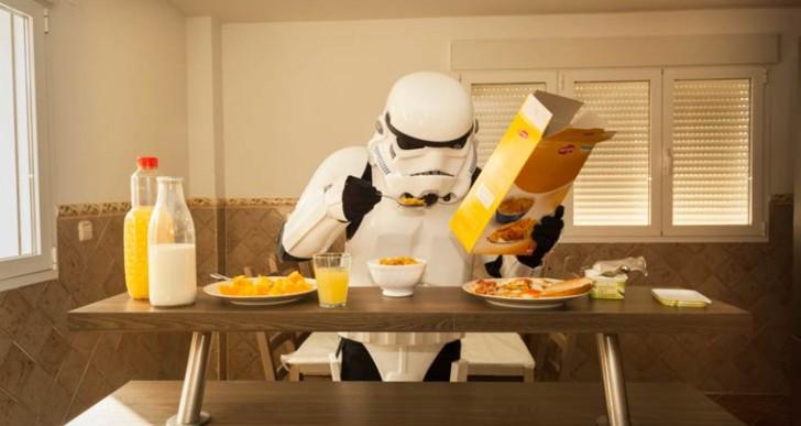 La vida cotidiana y MUY ordinaria de los Stormtroopers de Star Wars