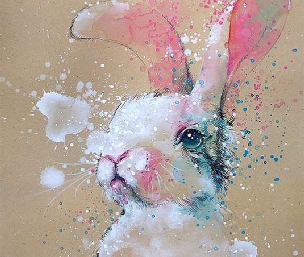 Estas vibrantes pinturas con acuarelas te encantarán