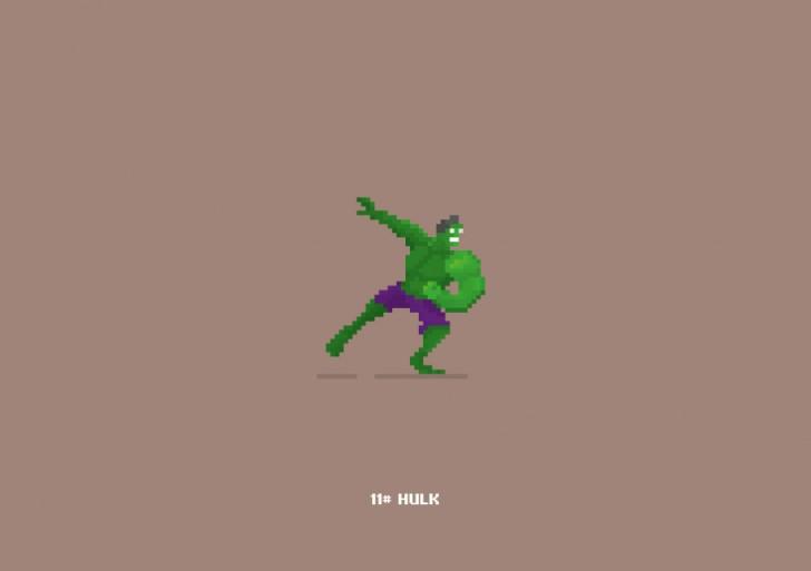 Nuestros personajes favoritos de Marvel en Pixel Art