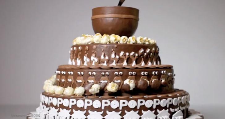Un pastel que cuenta una divertida historia