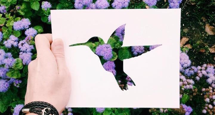 Este artista usa el paisaje para completar sus obras