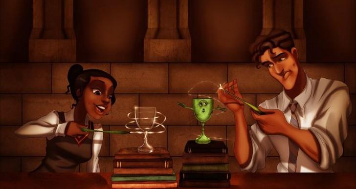 Cuando las princesas de Disney van a Hogwarts