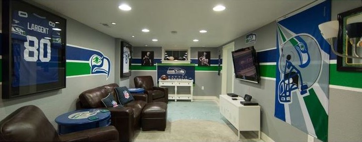 6 impresionantes cuartos de tv que son perfectos para los fanáticos de la NFL