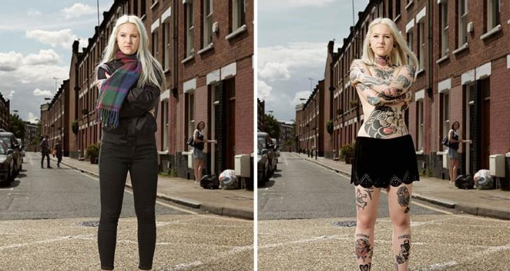 Este fotógrafo reveló los impresionantes tatuajes que estas personas llevan debajo de la ropa