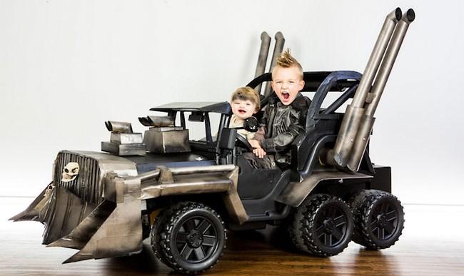 Estos chicos estrenarán en Halloween un carrito inspirado en Mad Max