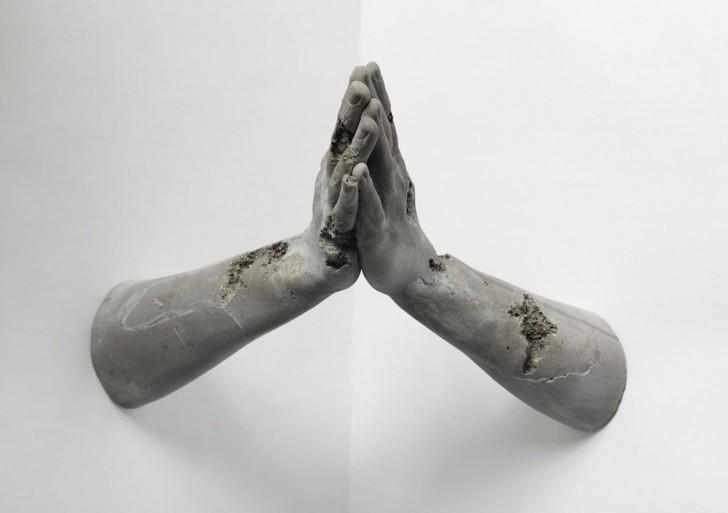 Esculturas que aislan los gestos humanos