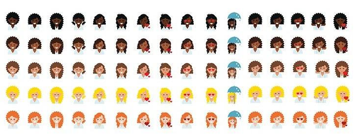 Conoce estos nuevos emojis inspirados en chicas con cabello chino