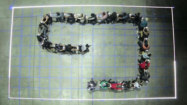Estos chicos recrearon el clásico juego de La Viborita en tamaño real