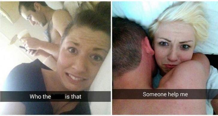 Estos chistosos selfies son la epítome del arrepentimiento