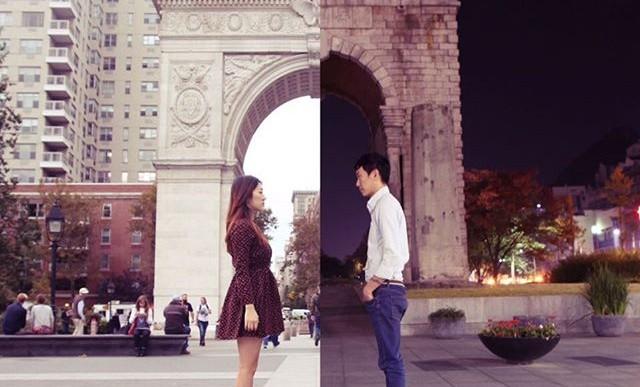 Esta pareja se olvidó de la distancia que los separaba, crearon fotografías juntos