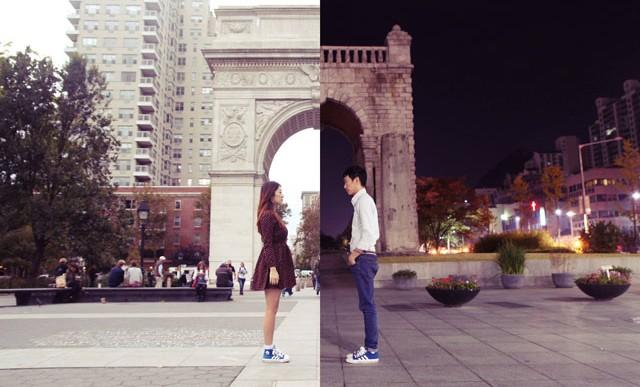 Ingeniosas fotos hechas por una pareja en lados contrarios del mundo