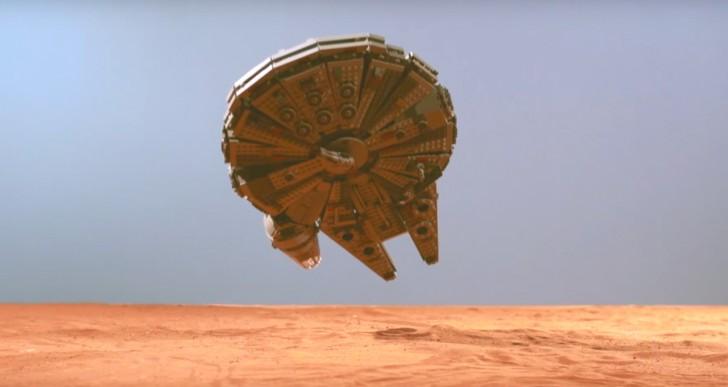 Mira estas naves de Star Wars de lego destruirse en cámara lenta