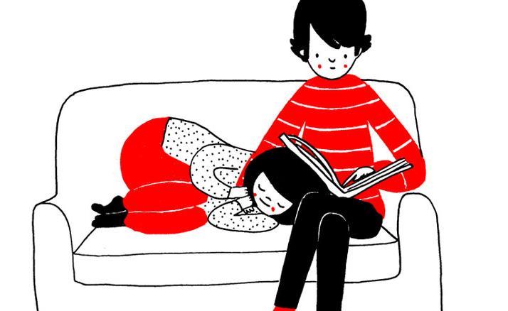 Estas hermosas ilustraciones prueban que vivir en pareja es genial
