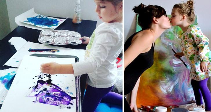 Esta madre convierte los garabatos de su hija de 3 años en increíbles dibujos