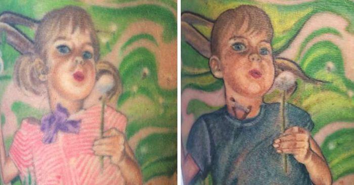 Una madre cambió el diseño de su tatuaje para apoyar a su hijo transexual