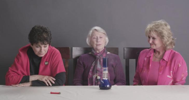 Estas tres abuelitas prueban marihuana por primera vez
