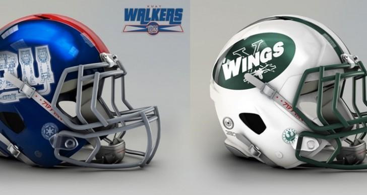 Así serían los cascos de la NFL si existiera en el mundo de Star Wars