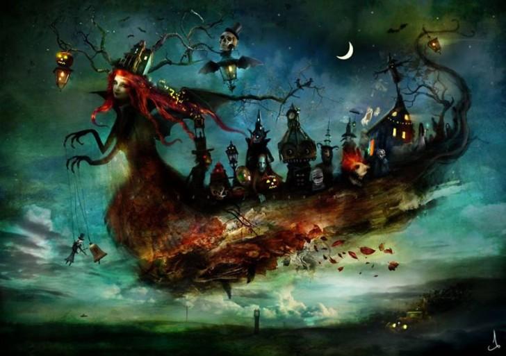 Ilustraciones sacadas de cuentos de hadas por Alexander Jansson