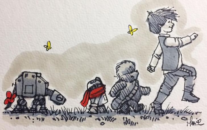Cuando Star Wars y Winnie Pooh se mezclan