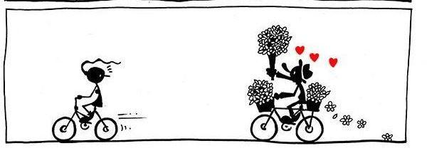 Cuando el amor llega rodando en una bicicleta