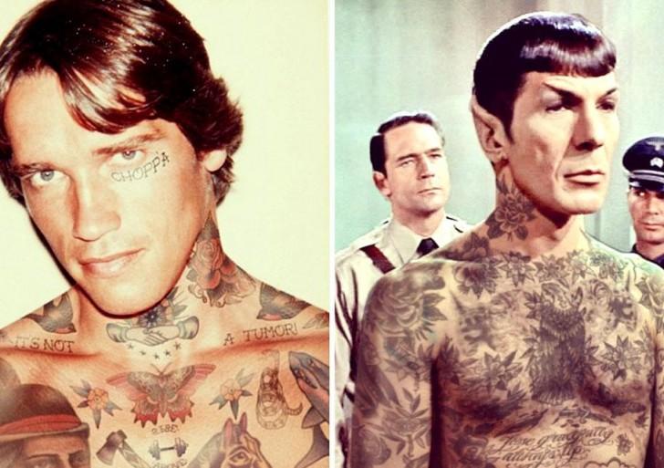 16 celebridades que se ven geniales con tatuajes photoshopeados