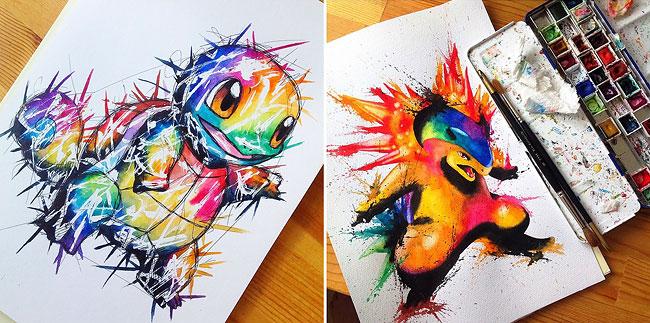 Esta artista le voló la cabeza a todos los fans de Pokemón con su fan art