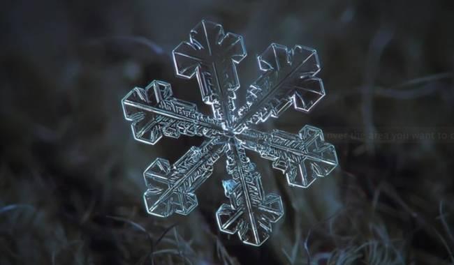 Paso a paso de cómo se forman los copos de nieve