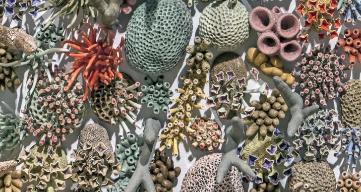 Esta artista crea bellísimos arrecifes de coral a mano
