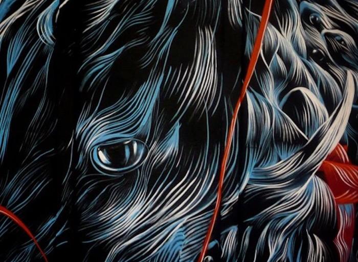 Los murales de este artista son una oda a la naturaleza