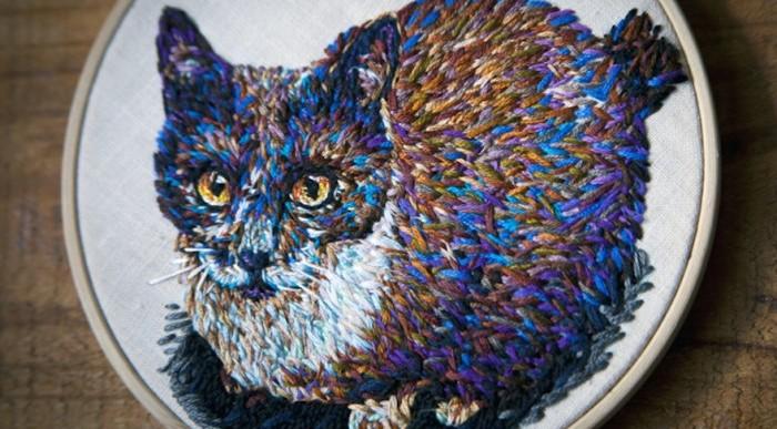 Estos son los artísticos bordados de Danielle Clough