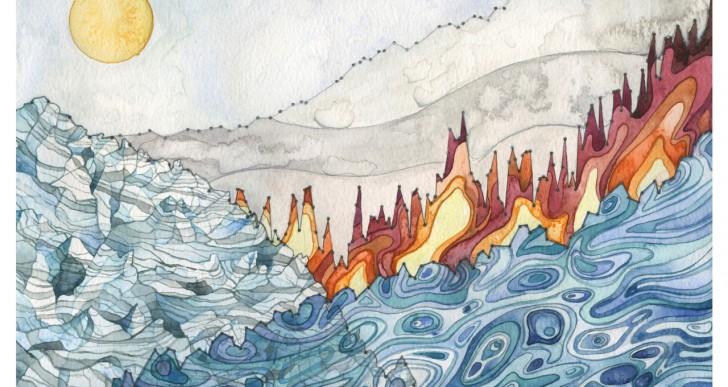 Esta científica ambiental crea arte con datos climáticos