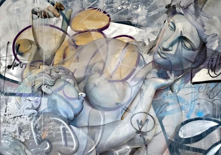 Pichi & Avo combinan el estilo clásico de graffitis con dioses griegos