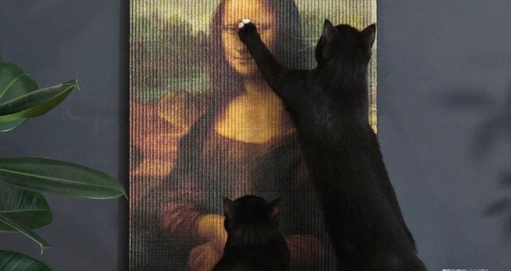 Aquí hay unas obras de arte para que tu gato destruya