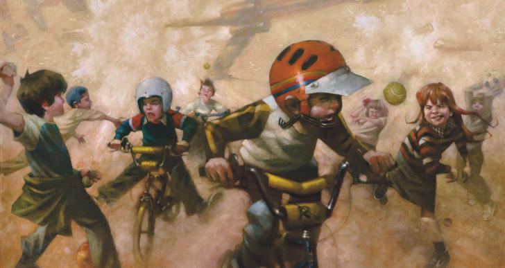 Estas pinturas recuerdan cómo solían ser las fantasías de los niños