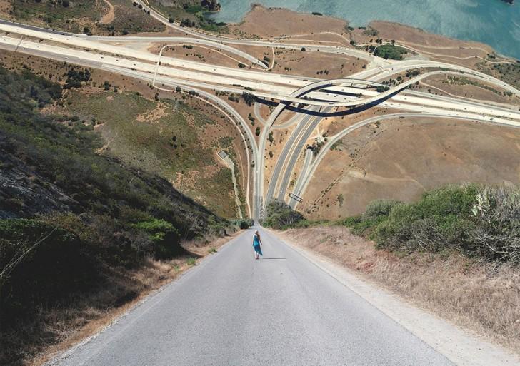 Fotos surreales del mundo doblado sobre si mismo