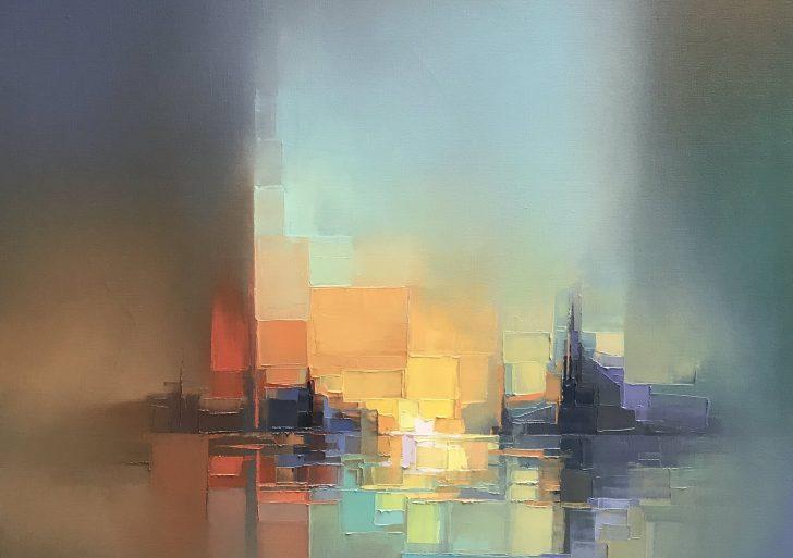 Paisajes pixelados en óleo por Jason Anderson