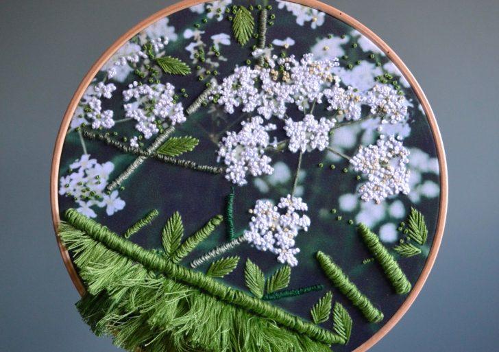 La hojosa botánica bordada de Helen Wilde