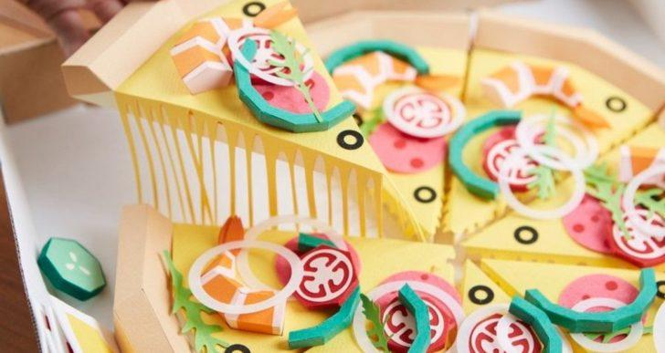 Esculturas de papel colorido de comida y muebles por Lee Ji-hee