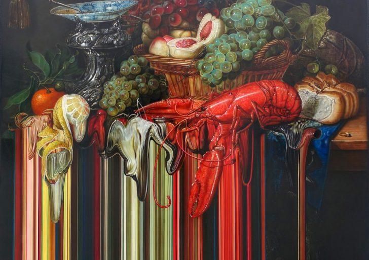 Pinturas glitchosas por Olan Ventura