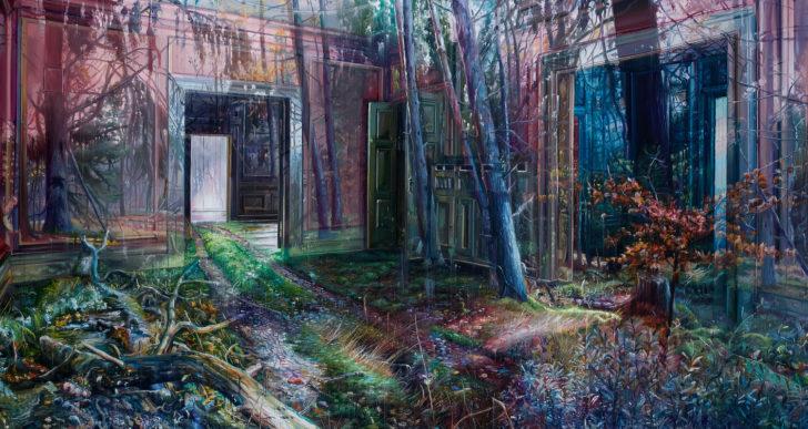 Estas pinturas en capas combinan exteriores con interiores