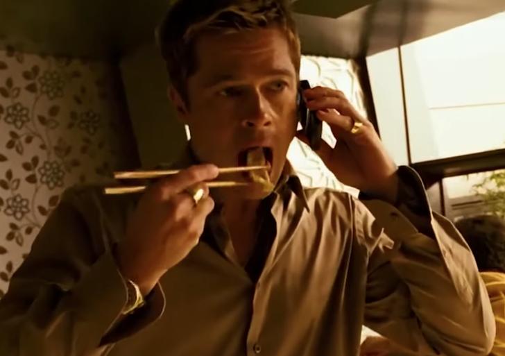 Una recopilación de Brad Pitt comiendo en sus películas