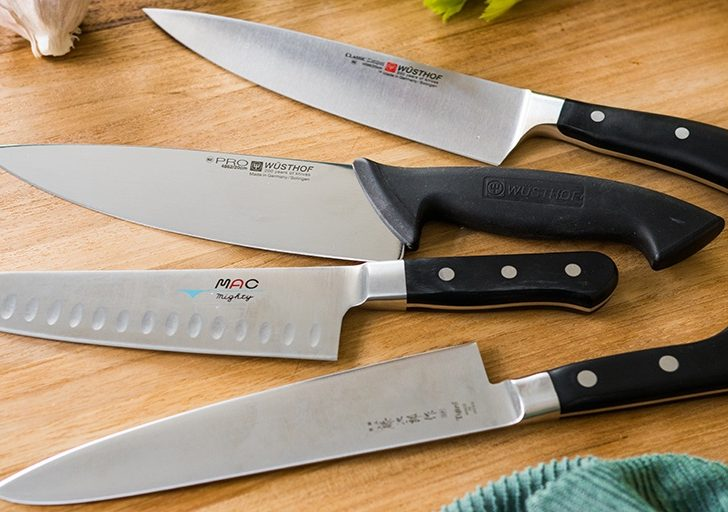 La verdad es que sólo necesitas un cuchillo en la cocina