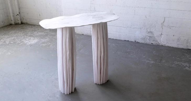 Esta artista creó una colección de muebles con papel de calca
