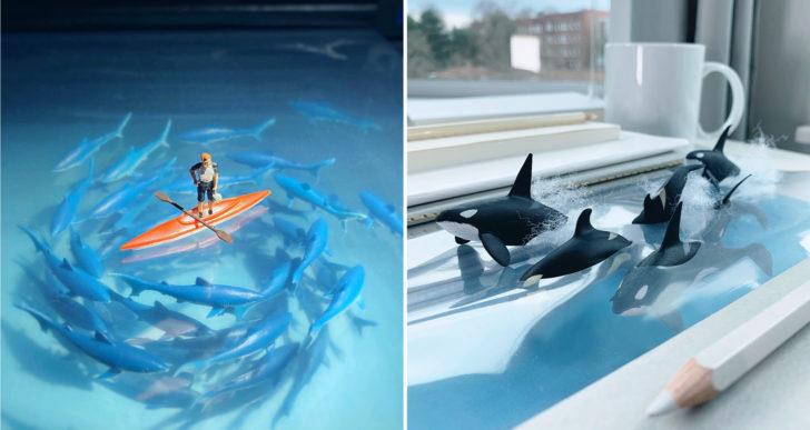 Las dioramas que muestran la vida cotidiana de Derrick Lin
