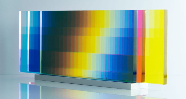 Estas diapositivas de colores crean un caleidoscopio hipnotizante de colores