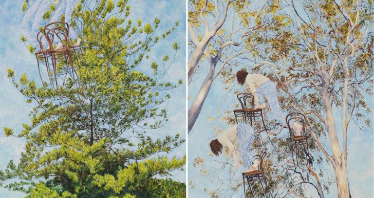 Las pinturas de Monica Rohan muestran narrativas caprichosas