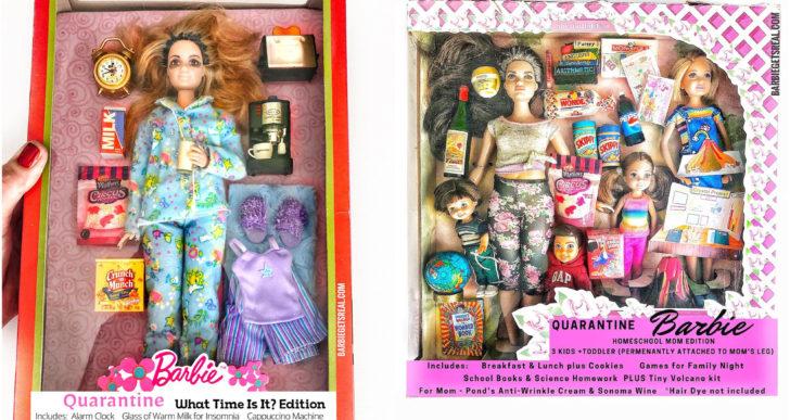 Te van a encantar estas Barbies versión cuarentena